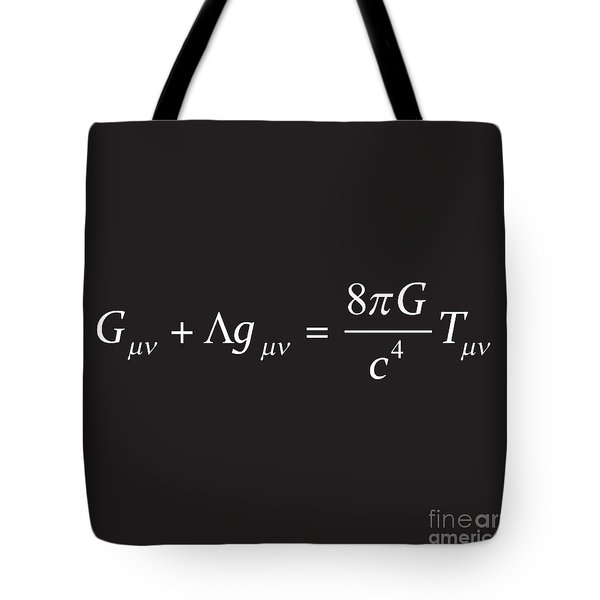 Einstein Field Equation Formula Tote Bag