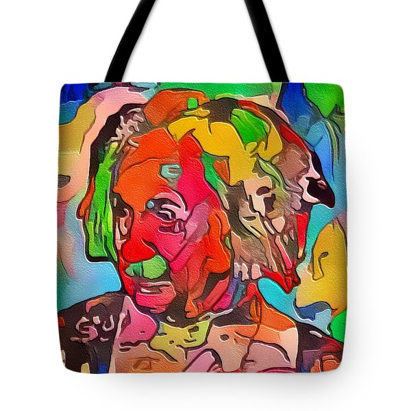 Tote Bag featuring the painting Einstein by Mark Taylor