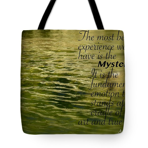 Einstein Mysterious Tote Bag by David Norman