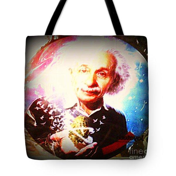 Einstein On Pot Tote Bag