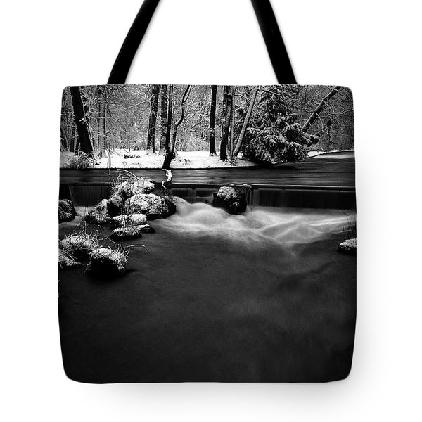 Eisbach In The Winter Tote Bag by Hannes Cmarits