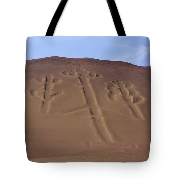 Tote Bag featuring the photograph El Candelabro Peru by Aidan Moran