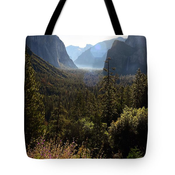 Tote Bag featuring the photograph El Capitan And Yosemite Valley by MaryJane Armstrong