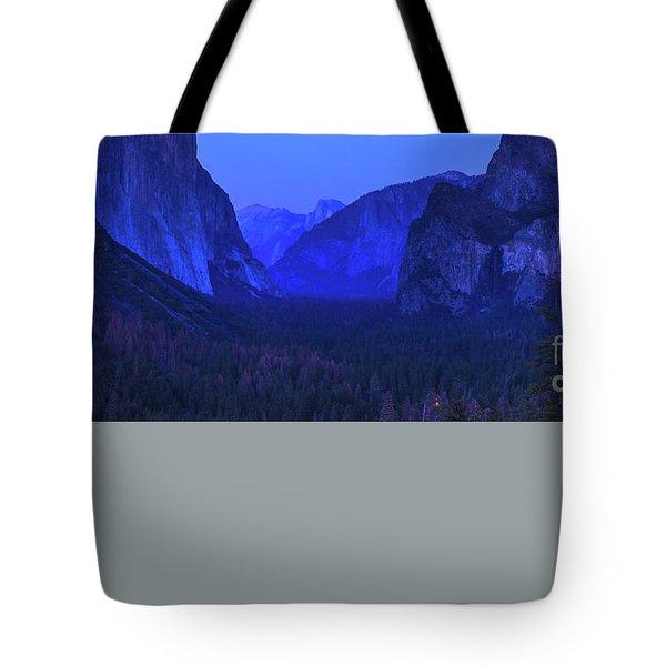 El Capitan Blue Hour Tote Bag