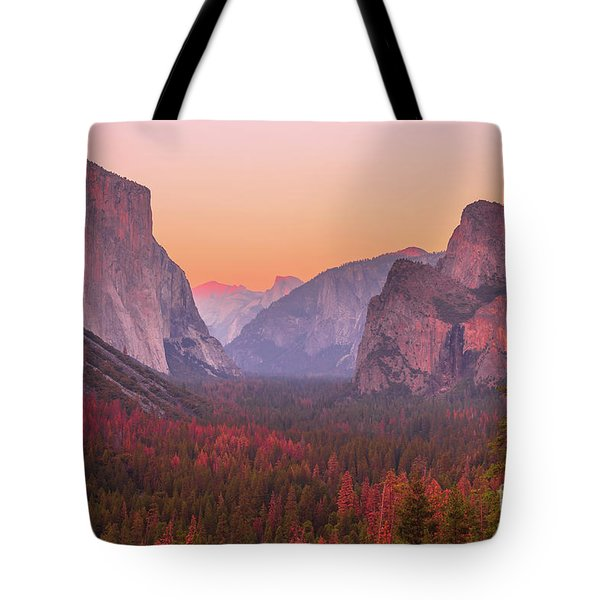 Tote Bag featuring the photograph El Capitan Golden Hour by Benny Marty