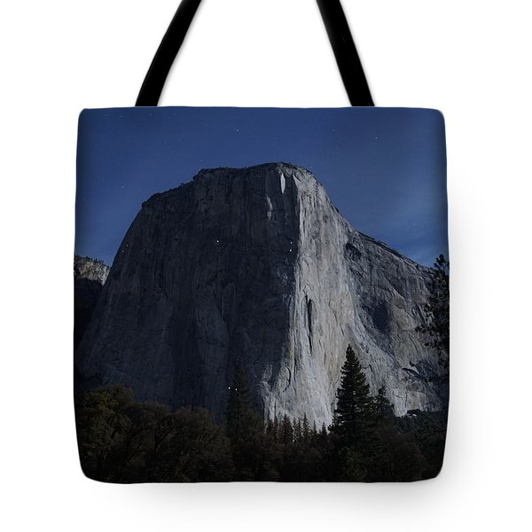 El Capitan In Moonlight Tote Bag by Michael Courtney