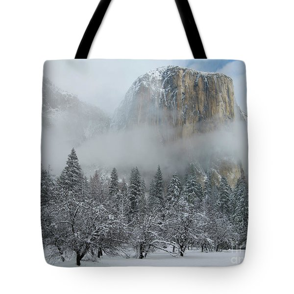 Tote Bag featuring the photograph El Capitan Majesty - Yosemite Np by Sandra Bronstein