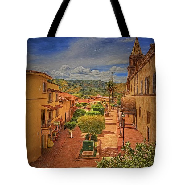 Tote Bag featuring the photograph El Centro  ... by Chuck Caramella