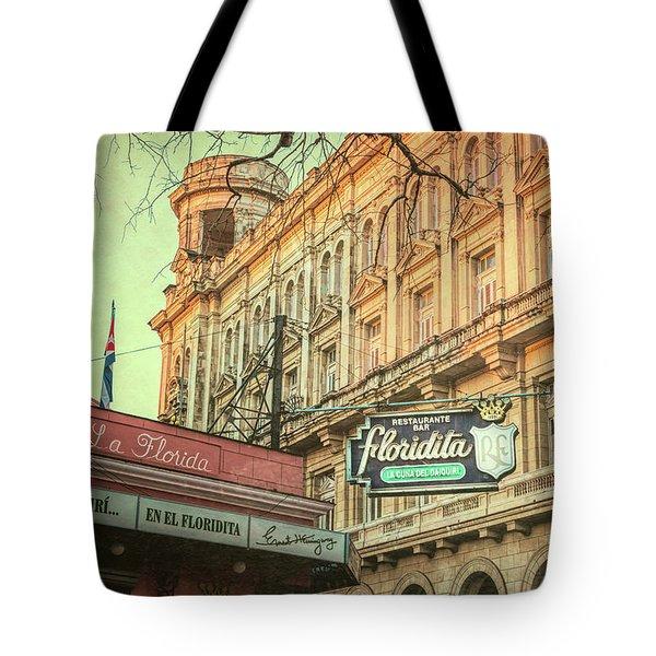 El Floridita Havana Cuba Tote Bag