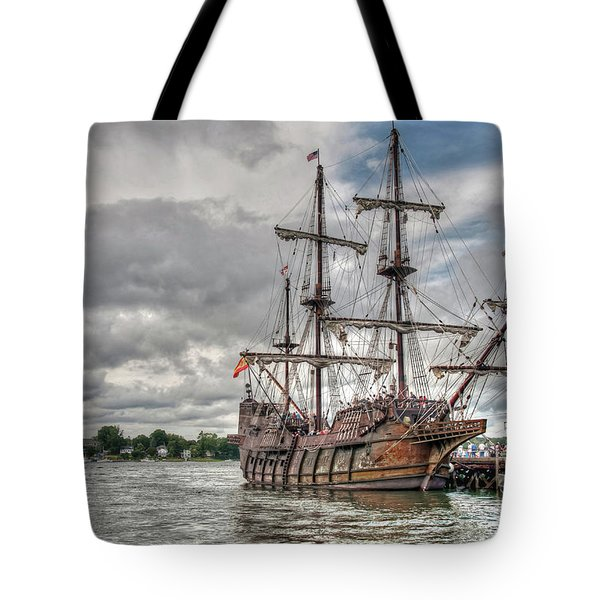 El Galeon Andalucia In Portsmouth Tote Bag