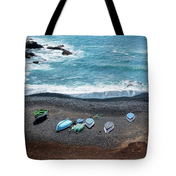 Tote Bag featuring the photograph El Golfo by Delphimages Photo Creations