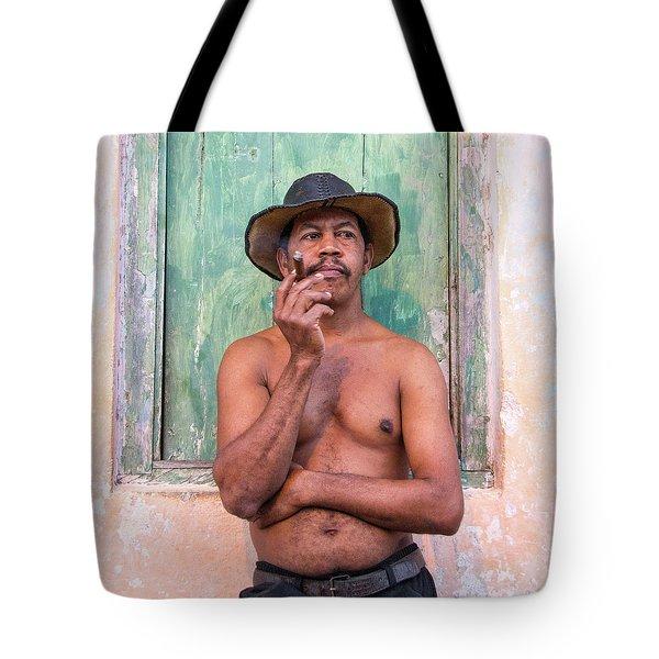 Tote Bag featuring the photograph El Hombre by Marla Craven