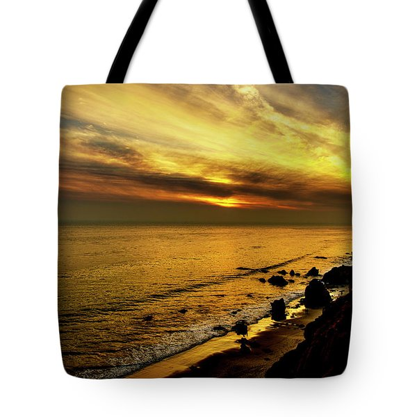 El Matador Beach Sunset Tote Bag