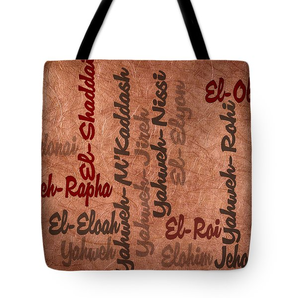 Tote Bag featuring the digital art El-olam by Angelina Vick