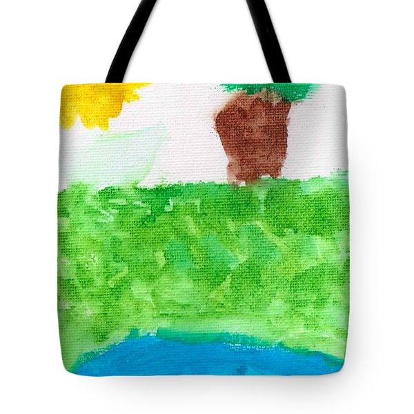 Tote Bag featuring the painting El Paisaje by Artists With Autism Inc