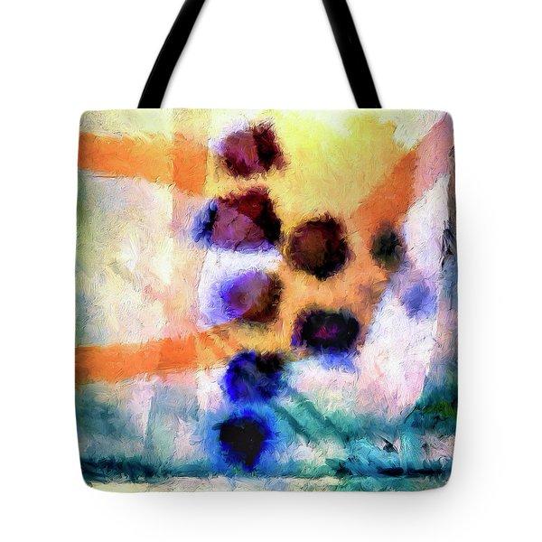 Tote Bag featuring the painting El Paso Del Tiempo by Dominic Piperata