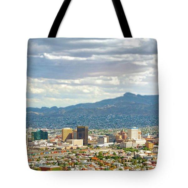 El Paso Texas Downtown View Tote Bag