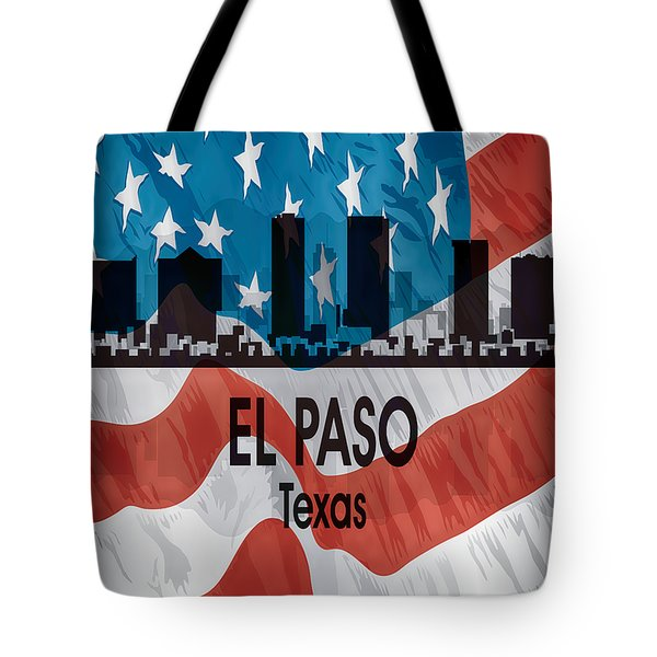 El Paso Tx American Flag Vertical Tote Bag