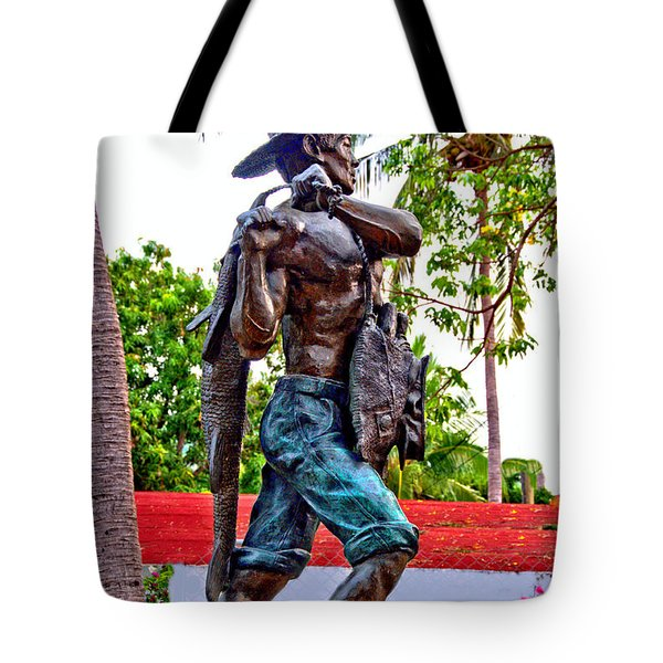 Tote Bag featuring the photograph El Pescador by Jim Walls PhotoArtist