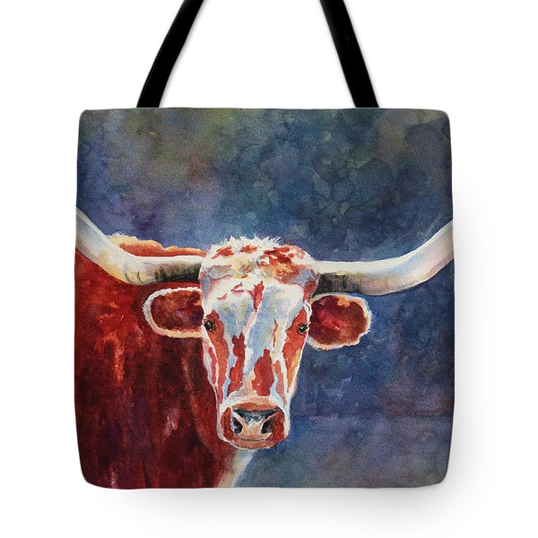 Tote Bag featuring the painting el rey... Longhorn by Roxanne Tobaison