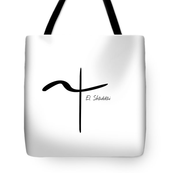 Tote Bag featuring the mixed media El Shaddai by Jessica Eli