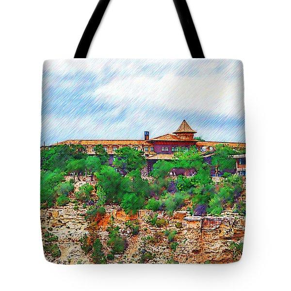 El Tovar At The Grand Canyon Tote Bag