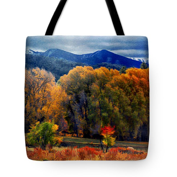 Tote Bag featuring the photograph El Valle November Pastures by Anastasia Savage Ealy