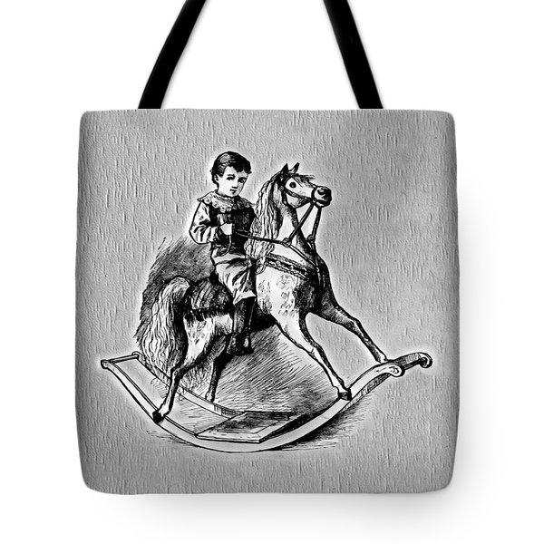 Tote Bag featuring the digital art Elaborate Rocking Horse by Pennie McCracken