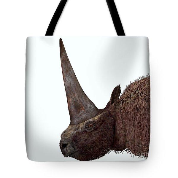 Elasmotherium Head Tote Bag