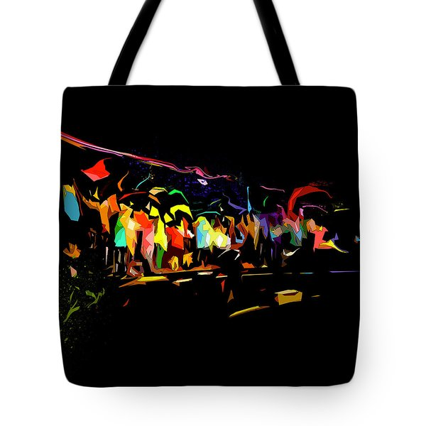 Tote Bag featuring the digital art Elation by Gina Harrison