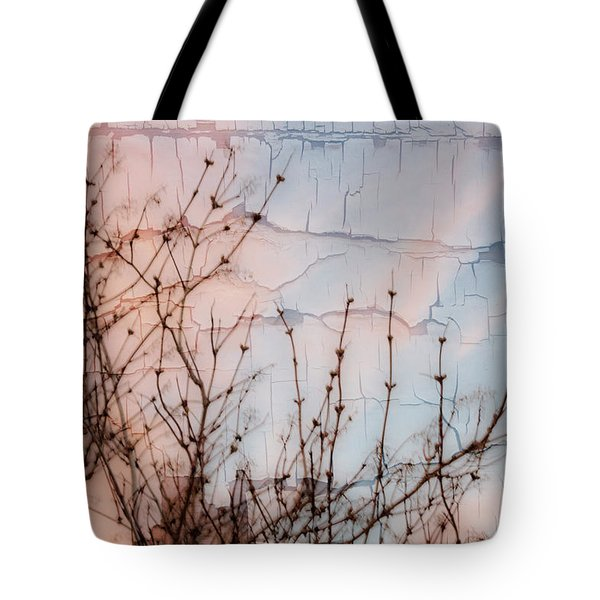 Elder Branches Silhouette Tote Bag by Sandra Foster