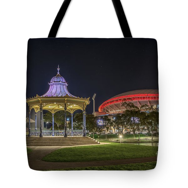 Tote Bag featuring the photograph Elder Park Elegance by Ray Warren