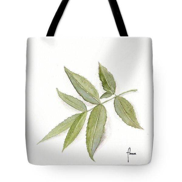 Elderberry Leaf Tote Bag