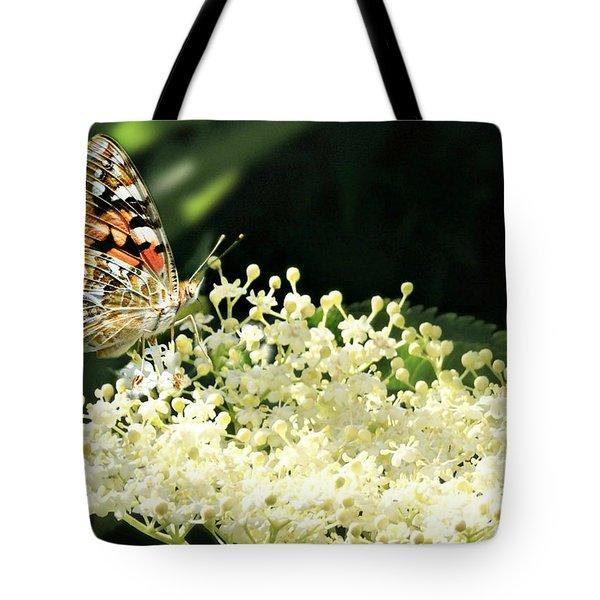 Elderflower And Butterfly Tote Bag