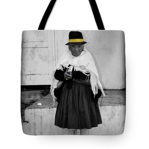 Elderly Beggar In Biblian Tote Bag