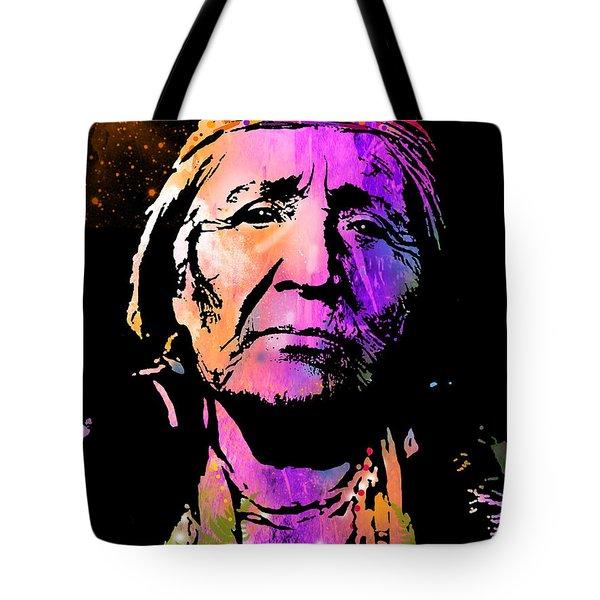 Elderly Hupa Woman Tote Bag by Paul Sachtleben