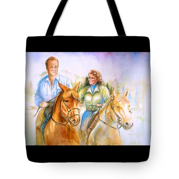 Eleanor And George Tote Bag