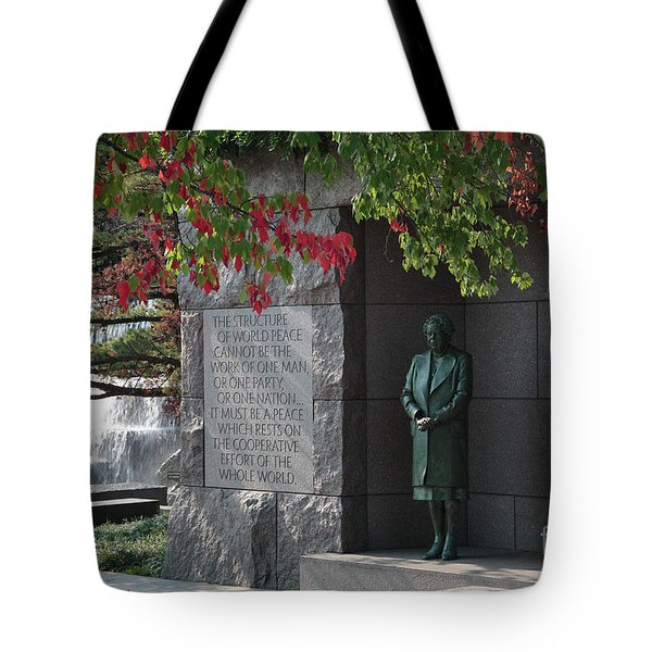Eleanor's Alcove At The Fdr Memorial In Washington Dc Tote Bag