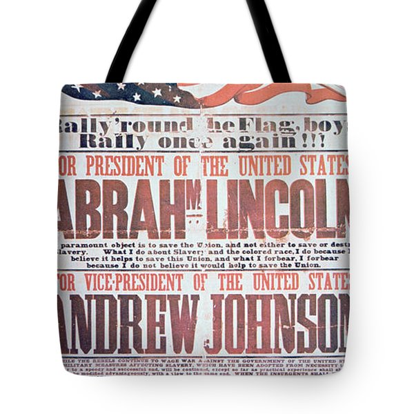 Electoral Campaign Poster For Abraham Lincoln, 1864 Tote Bag