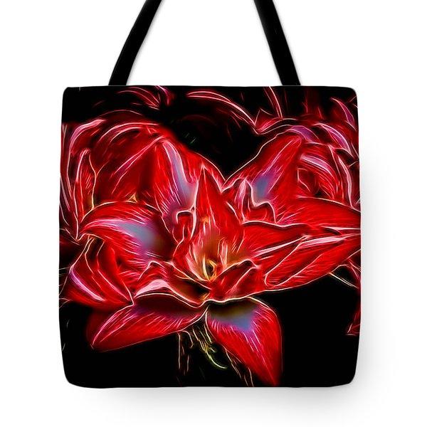 Electric Amaryillis Tote Bag by Darleen Stry