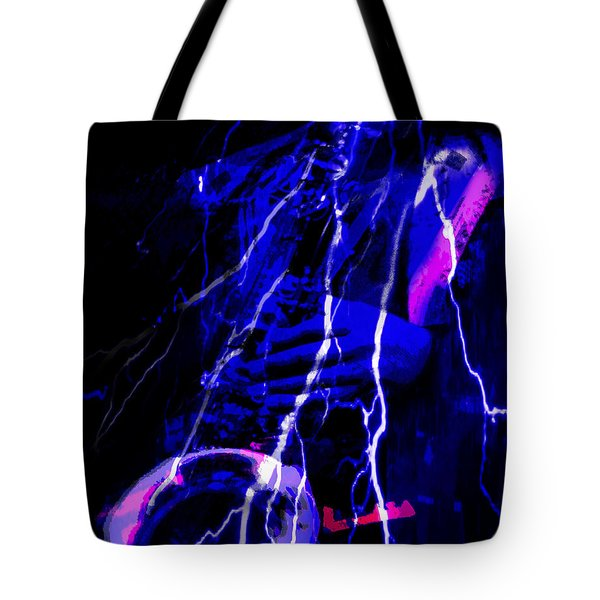 Tote Bag featuring the digital art Electric Ave. by Ken Walker