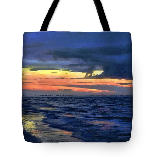 Electric Blue Tote Bag