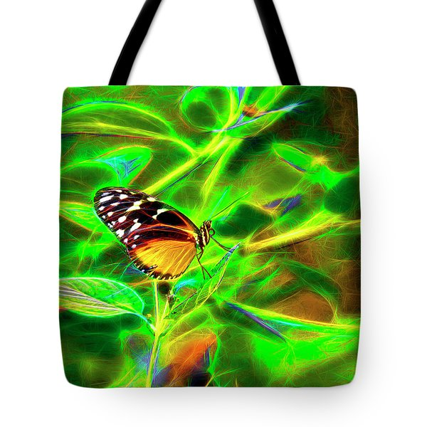 Electric Butterfly Tote Bag by James Steele