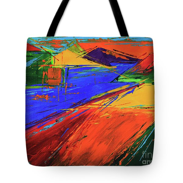 Electric Color Tote Bag by Jeanette French