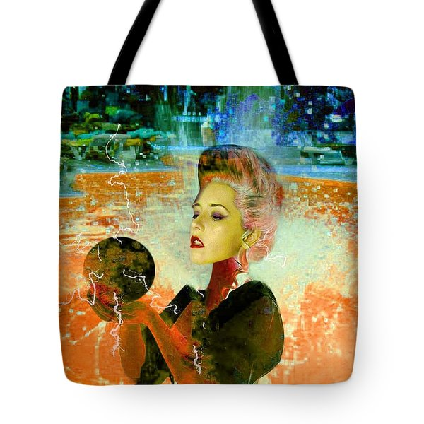 Electric Cyborg  Tote Bag by Matthew Lacey