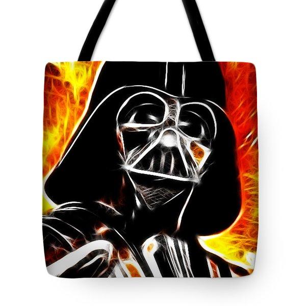 Electric Darth Vader Tote Bag by Paul Van Scott