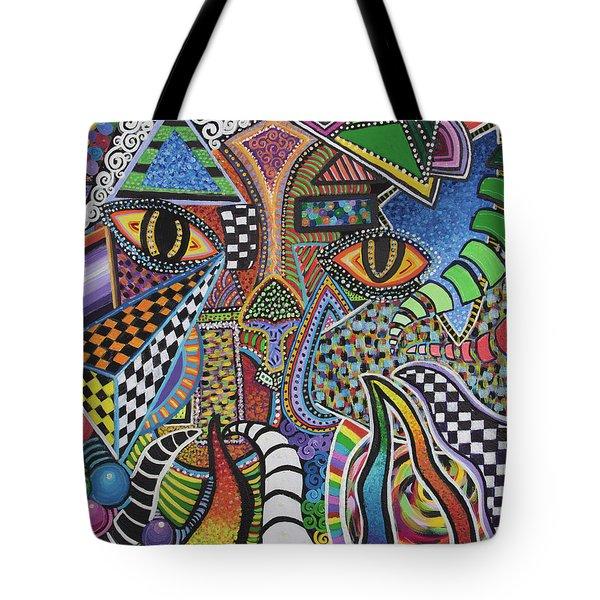 Electric Eyes Tote Bag