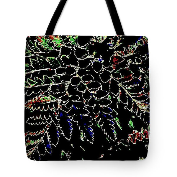 Electric Ferns Tote Bag