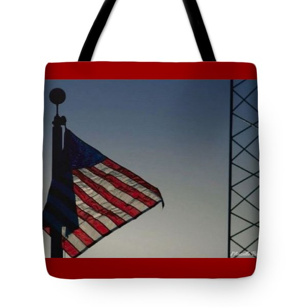 Electric Flag Tote Bag