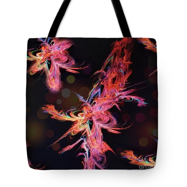 Electric Flowers Tote Bag